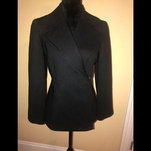 Linda allard Ellen Tracy black zip up blazer